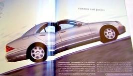 2001 mercedes s55 amg s500 s600 s430 owners sales brochure w220 new original - $19.79