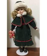 16 inch porcelain doll, EPI International, Christmas - $19.75
