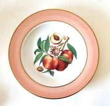 """Email De Limoges~ Fruit ~7.5"""" Decorative Porcelain Plate~ Peaches ~ Pink... - $12.82"""