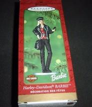 Harley Davidson 1999 Barbie Hallmark Keepsake Holiday Ornament MIB - $19.75
