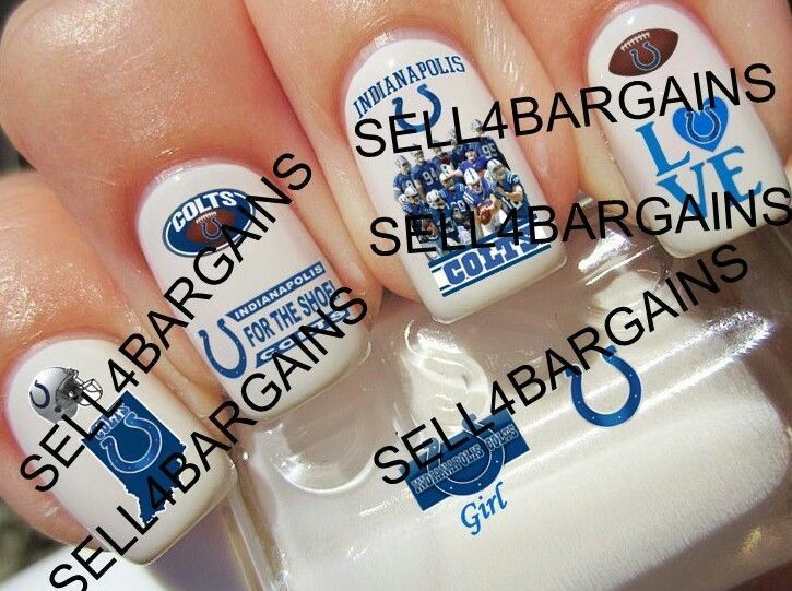 NFL Indianapolis Colts Football Logos》10 Different Designs》Nail Art Decals