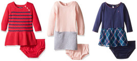 Nautica Infant Baby Girl's Dress with Diaper Cover Long Sleeve Classic Styles