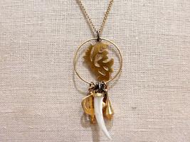 USA Hergestellt Wendy Mink New York 18K Vergoldet Silber Anhänger Halskette Nwt