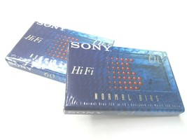 Sony HiFi 60 Min Type 1 Normal Bias Blank Recording Cassette Tapes 2 Pack NEW - $9.89