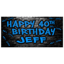 Established 1976 40th Birthday Banner Personalized Party Backdrop - $22.28