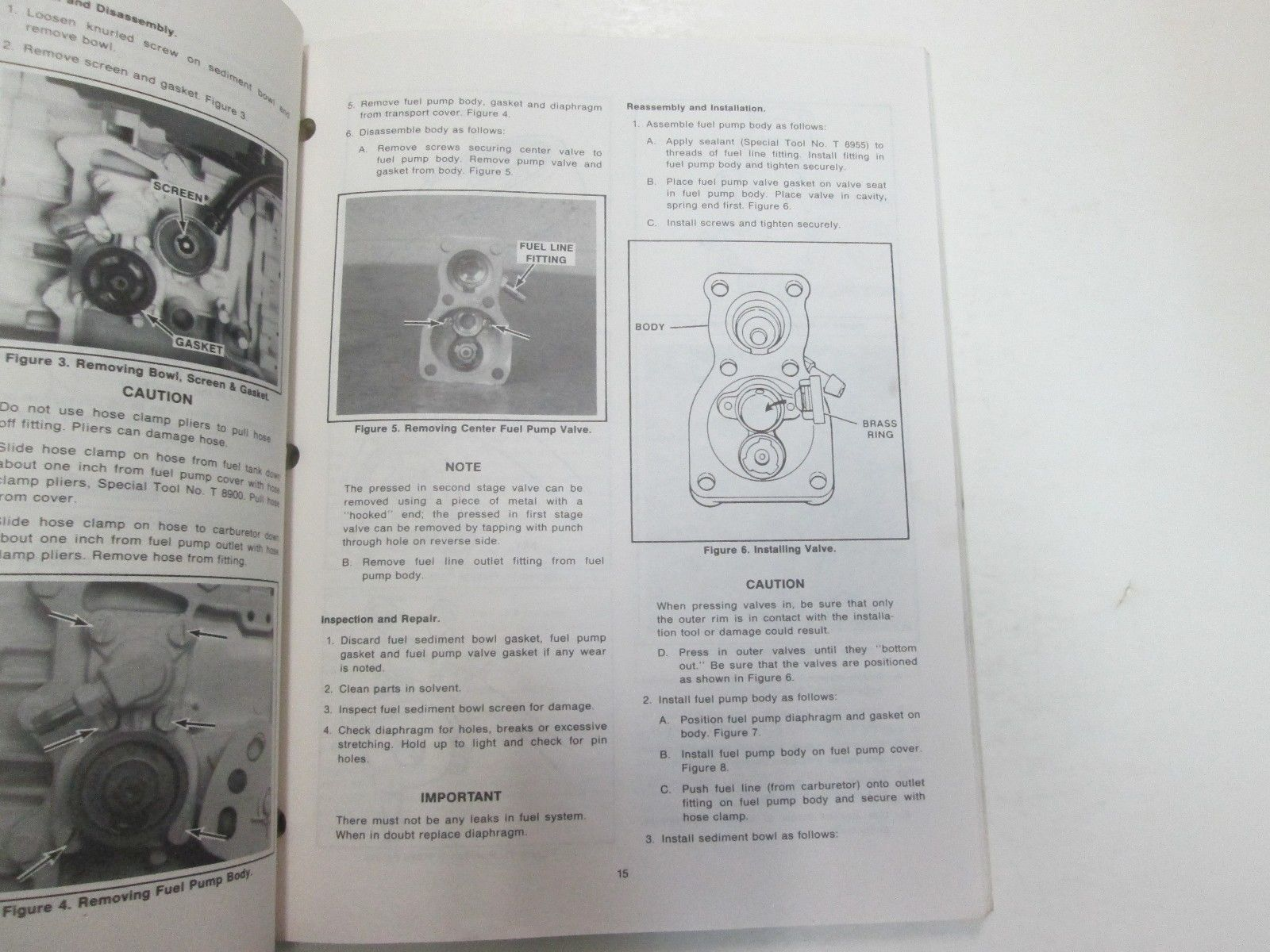 1984 1985 1986 Force Outboards 35 HP Outboard Motors Service Manual STAIN WORN** image 10