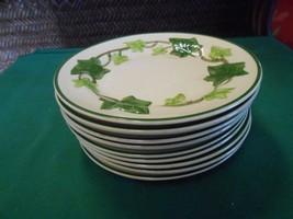"Great FRANCISCAN ""Ivy"" Earthware..... Set of 9 BREAD-SALAD-DESSERT Plate... - $49.09"