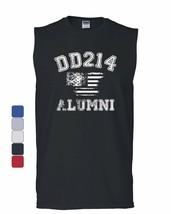 DD214 Alumni Distressed American Flag Muscle Shirt Military Veteran Sleeveless - $17.54+