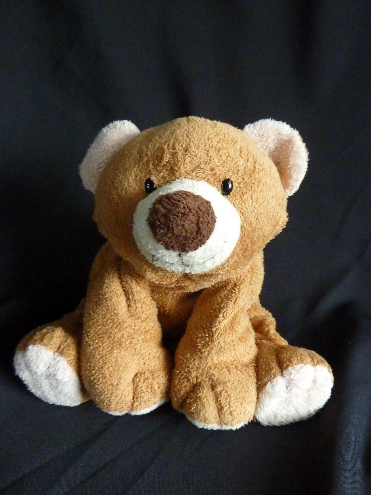 TY Pluffies SLUMBERS Brown Tan Bear Slumber Tylux 2002 Plush Stuffed Animal Toy