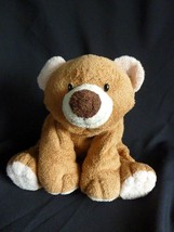 TY Pluffies SLUMBERS Brown Tan Bear Slumber Tylux 2002 Plush Stuffed Animal Toy - $16.71