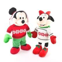 Paar Disney Gemmy Mickey Mouse Minnie Mouse 21 Plüsch Tür Greeters - $51.97