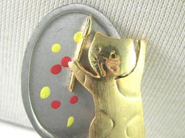 Cat Artist Pin Vintage Ultra Craft Brooch - $17.99
