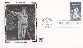 BABE RUTH #2046 CHICAGO, IL JULY 6, 1983 Z SILK H & M CACHET D-609 - $3.13