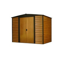 Storage Shed Steel Building 8 x 6 Sliding Lockable Door Latch Outdoor Ga... - $431.28