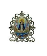 Religious mini Desk Stand,Virgin Maria de la Caridad del Cobre Lady Of C... - $9.78