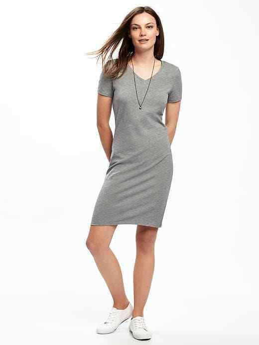 Primary image for Old Navy V-Neck Heather Gray Dress F/S
