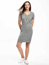 Old Navy V-Neck Heather Gray Dress F/S - $18.70