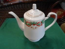 """Vintage SANGO """"Noel"""" 1990 Christmas Signed Hyon Yi  ..........Large TEA POT - $10.80"""