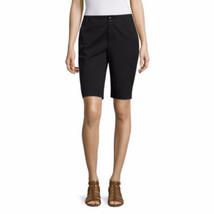 "Liz Claiborne Women's Bermuda Shorts 10.5"" Black Size 10 Petite NEW - $21.77"