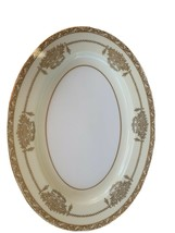 "Noritake China Bancroft 5481 Oval Serving Platter SZ-16"" L. Gold Pattern - $38.61"