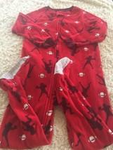 Child Of Mine Boys Red Football Player Fleece Long Sleeve Pajamas 5T - $6.43