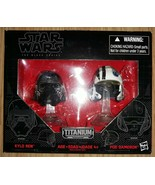 Star Wars the Black Series Titanium Poe Dameron Kylo Ren 01 - $25.74