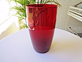 Set of 2 Cris D'Arques Ruby Red Tumblers 12 Ounce - $11.88