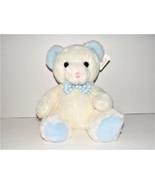 "RUSS Baby Boy Rattle White & Blue Teddy Bear 12"" - $12.86"