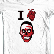 I Heart Zombies T shirt Walking Dead funny 100% cotton graphic printed tee image 2