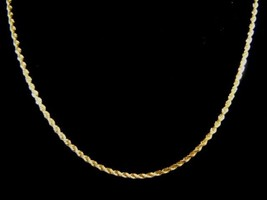 Lovely Vintage Estate 14K Yellow Gold Rope Chain Necklace 6.1g E1741 - $450.00