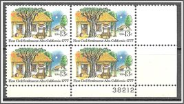 1977 Alta California Plate Block of 4 US Postage Stamps Catalog Number 1725 MNH