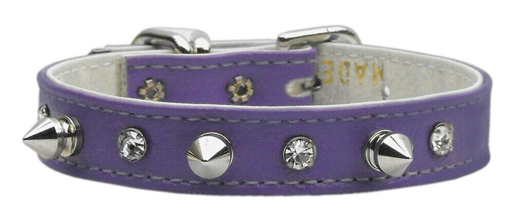 "Primary image for ""just The Basics"" Crystal And Spike Collars Purple 16"