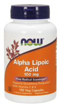 Alpha Lipoic Acid 100mg With E & C Now Foods 120 VCaps - $20.80