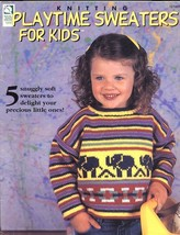 Playtime Sweaters For Kids Ho Wb Knitting PATTERN/INSTRUCTIONS Booklet 5 Designs - $4.02