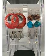4 Pair Of Vintage Dangle Pierced Earrings - $7.50