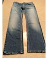 "Men's Balenciaga Faded 5 Pocket Zip Fly Blue Jeans 14 1/2"" Leg Opening  ... - $233.75"