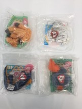 Lot of 4 TY Teenie Beanie Baby McDonalds Happy Meal Toy Twigs Seamore Sc... - $19.60