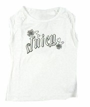 Girl's Size 3 Juicy Couture Shirt Hearts & Flowers Graphic Tee, White