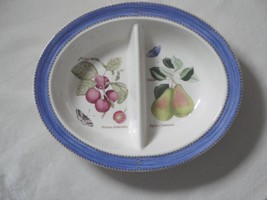 Wedgwood Divided Vegetable/Serving Bowl Queen's Ware Sarah's Garden Pattern - $50.00