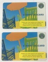 Starbucks Orange Umbrella Gift Card No Value (Qty 2) - $11.29