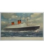 Old Divided Back Postcard Cunard White Star Line RML Steamer Queen Eliza... - $14.65