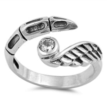 Women's Adjustable Claw Toe Ring Round Cut CZ 14k White Gold Plated 925 ... - $9.99