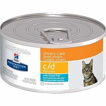 Hill's c/d Multicare Urinary Care with Ocean Fish Canned Cat Food 24/5.5 oz - $74.99