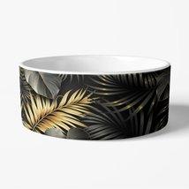 Gold Tropical Leaves Pet Bowl - $29.99