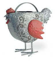 Metal Red Rooster/Chicken Garden /Patio/Pool Watering Can 12'' x 11''H - $39.60