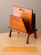 DANISH MID CENTURY MODERN WOOD MAGAZINE RACK! Eames 50's 60's Vtg Atomic... - $340.00