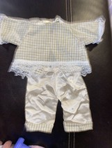 Vintage Cabbage Patch Kid clothes Outfit Handmade By Pro Seamstress Satin Beige - $4.99
