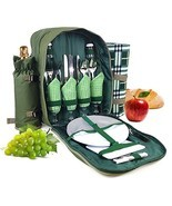 Bringalong green1 Picnic Backpack for 4 Persons with Cooler Compartment,... - $62.85 CAD