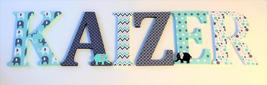 Wood Letters-Nursery Decor- Navy Blue & Turquoise Elephant,   Price Per ... - $12.50
