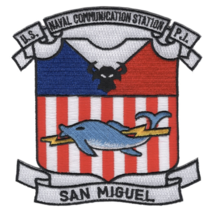 """4.5"""" NAVY NAVAL COMMUNICATION STATION SAN MIGUEL EMBROIDERED PATCH - $18.04"""